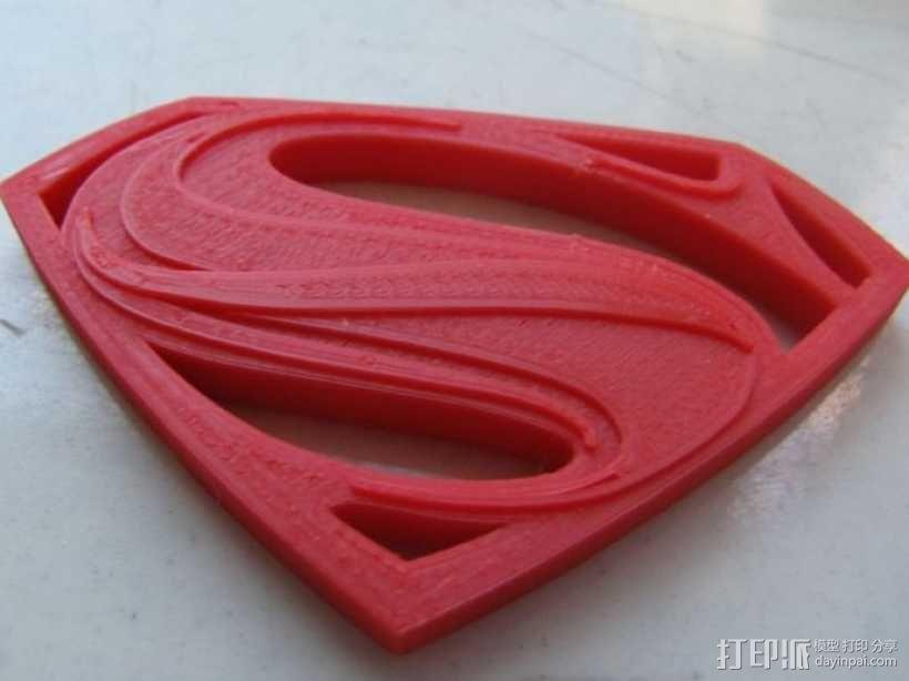 超人钢铁之躯 标志  3D模型  图5