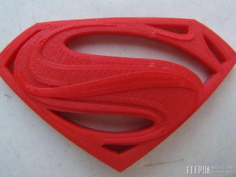 超人钢铁之躯 标志  3D模型  图4
