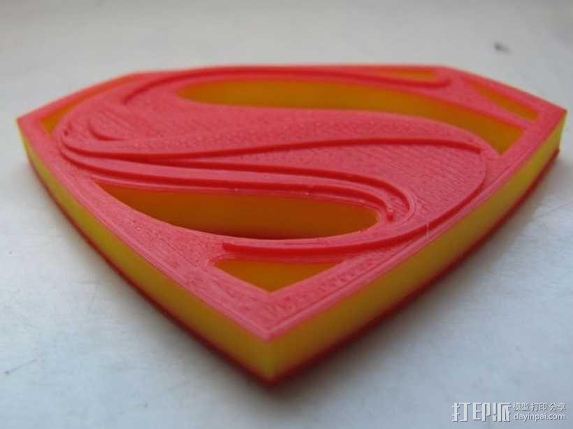 超人钢铁之躯 标志  3D模型  图2