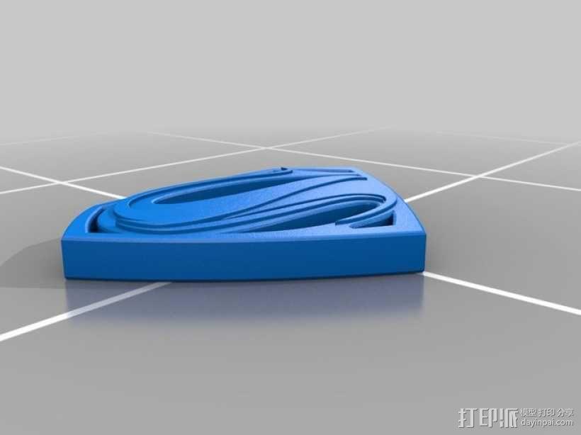 超人钢铁之躯 标志  3D模型  图6