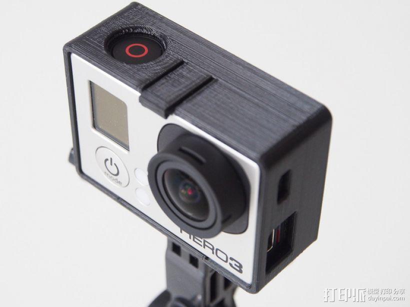 GoPro Hero3 相机支架保护外壳 3D模型  图1
