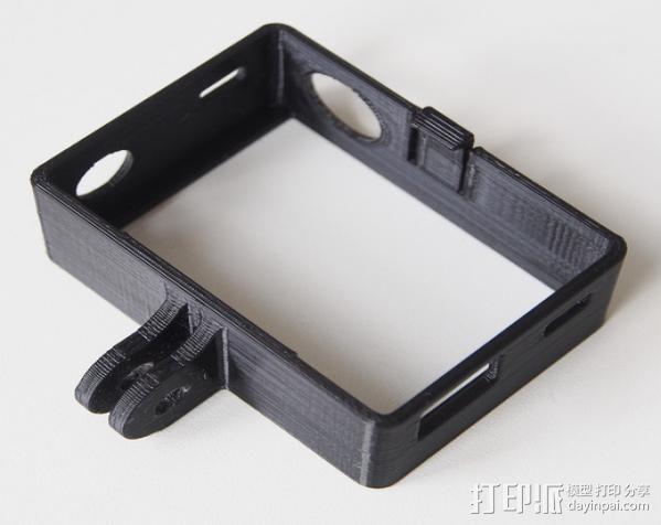 GoPro Hero3 相机支架保护外壳 3D模型  图4