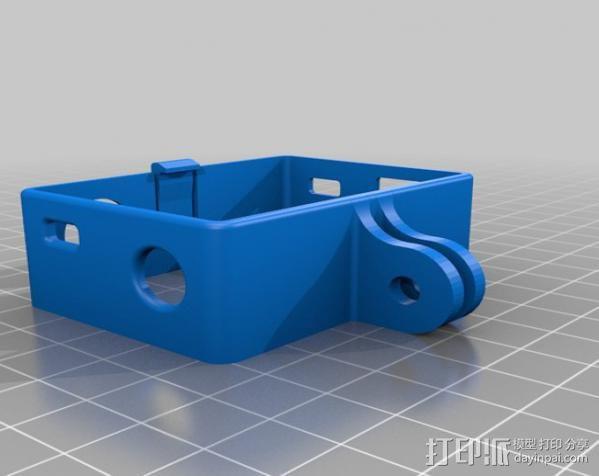 GoPro Hero3 相机支架保护外壳 3D模型  图3