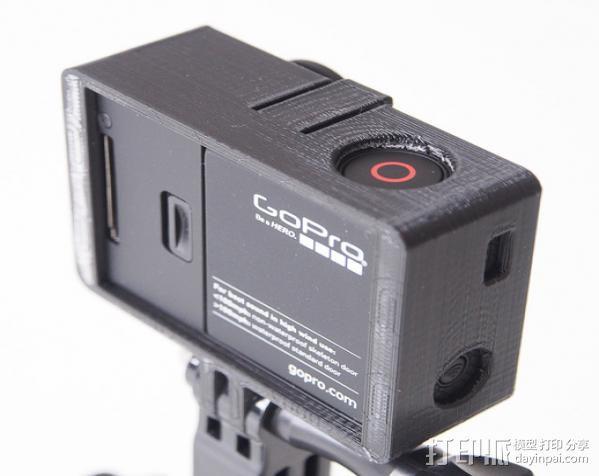 GoPro Hero3 相机支架保护外壳 3D模型  图6