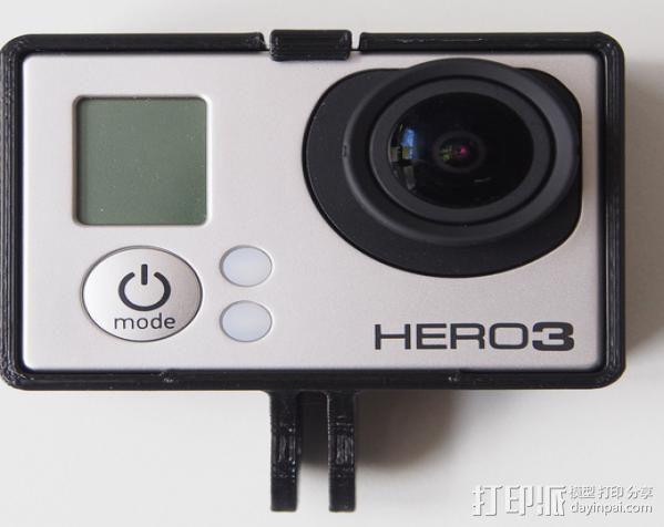 GoPro Hero3 相机支架保护外壳 3D模型  图11