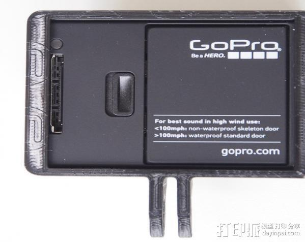 GoPro Hero3 相机支架保护外壳 3D模型  图12
