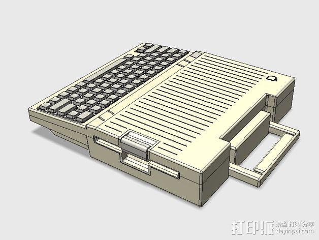 Apple IIc苹果可携式电脑 3D模型  图2