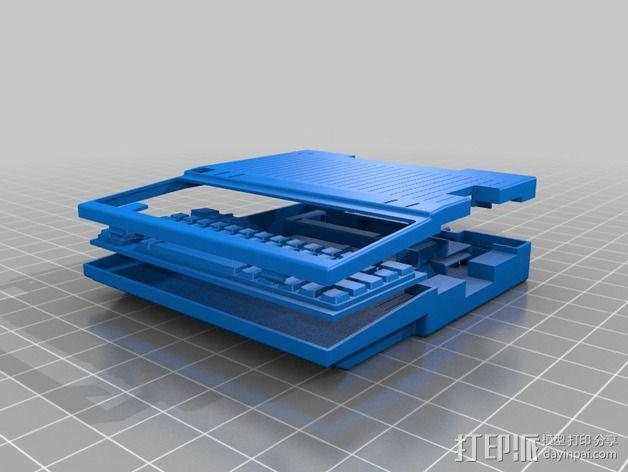 Apple IIc苹果可携式电脑 3D模型  图3