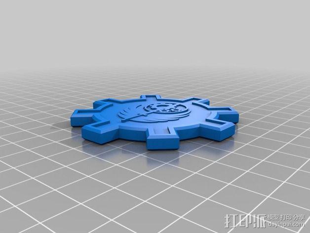 钢铁兄弟会 徽章  3D模型  图1