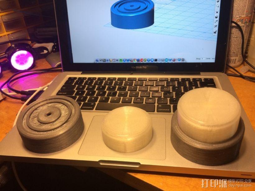 超大型电脑音量控制按钮 3D模型  图5