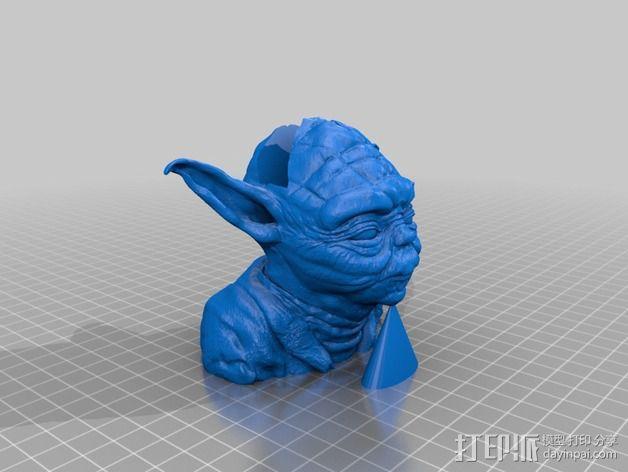 尤达大师iPhone手机架 3D模型  图2