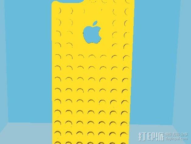 乐高iPhone5手机外壳 3D模型  图3
