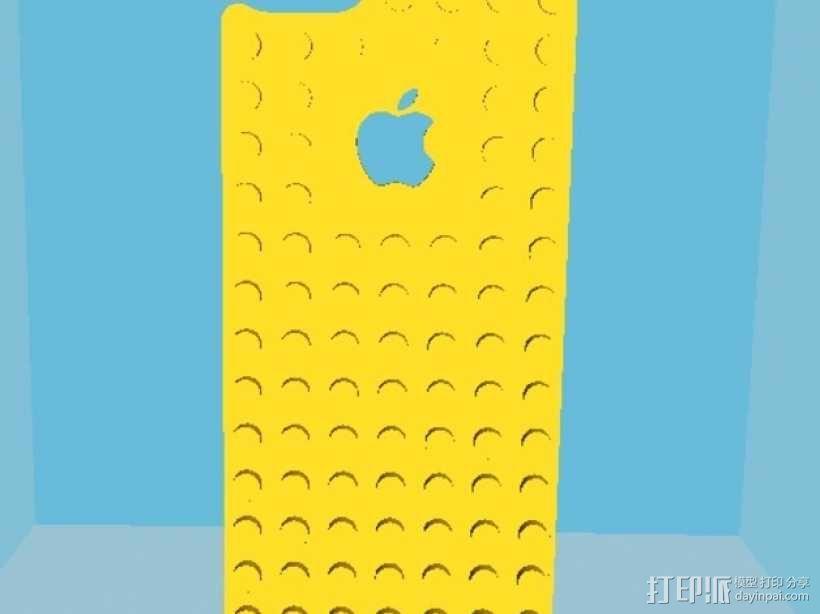 乐高iPhone5手机外壳 3D模型  图1