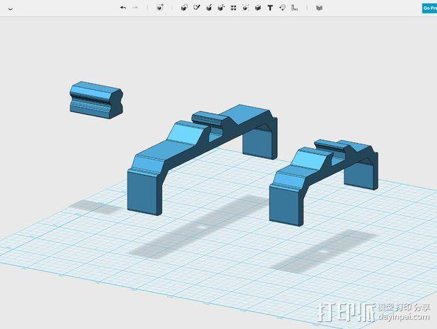 相机滑杆 3D模型  图9