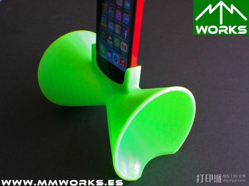 IPhone 4/4s & 5/5s苹果手机扩音器 3D模型  图4