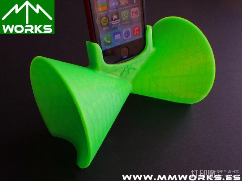 IPhone 4/4s & 5/5s苹果手机扩音器 3D模型  图5