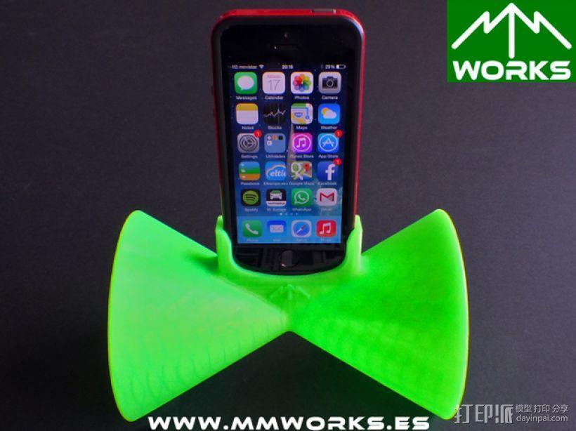 IPhone 4/4s & 5/5s苹果手机扩音器 3D模型  图6