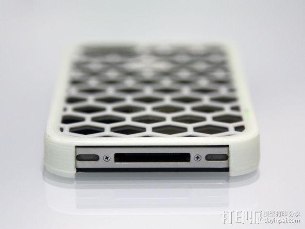 蜂巢iPhone手机壳 3D模型  图2