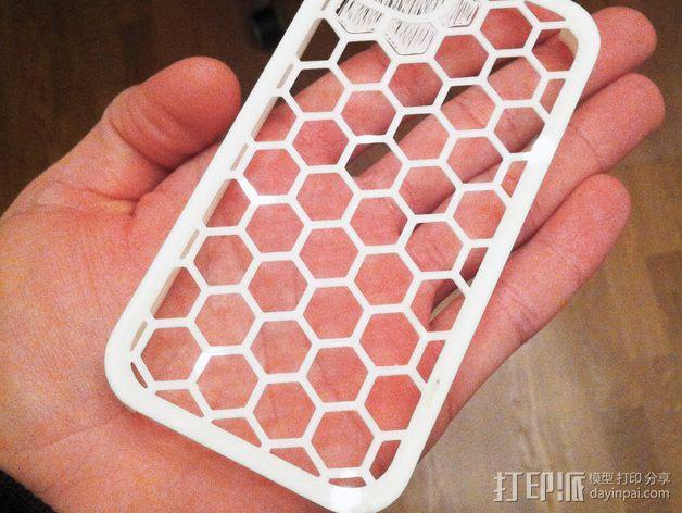 蜂巢iPhone手机壳 3D模型  图7
