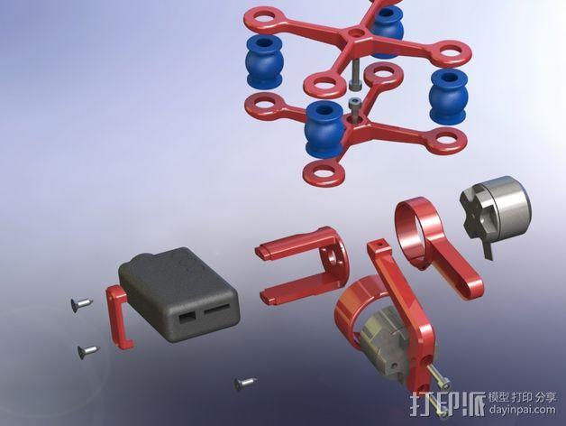 万向节联轴器 3D模型  图2