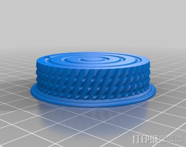 尼康相机的后透镜盖 3D模型  图3