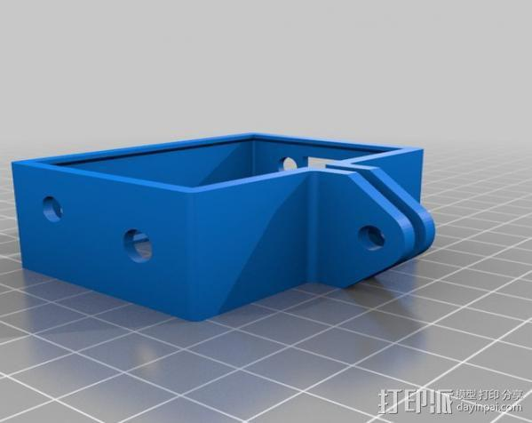 GoPro Hero 3 相机保护框 3D模型  图2