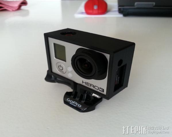 GoPro Hero 3 相机保护框 3D模型  图4
