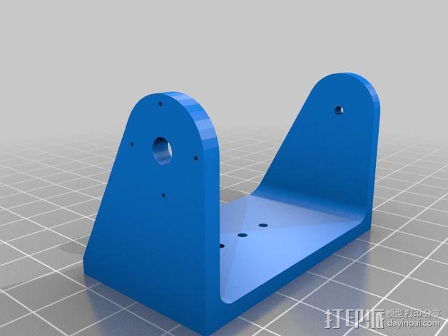 马达相机架 3D模型  图3