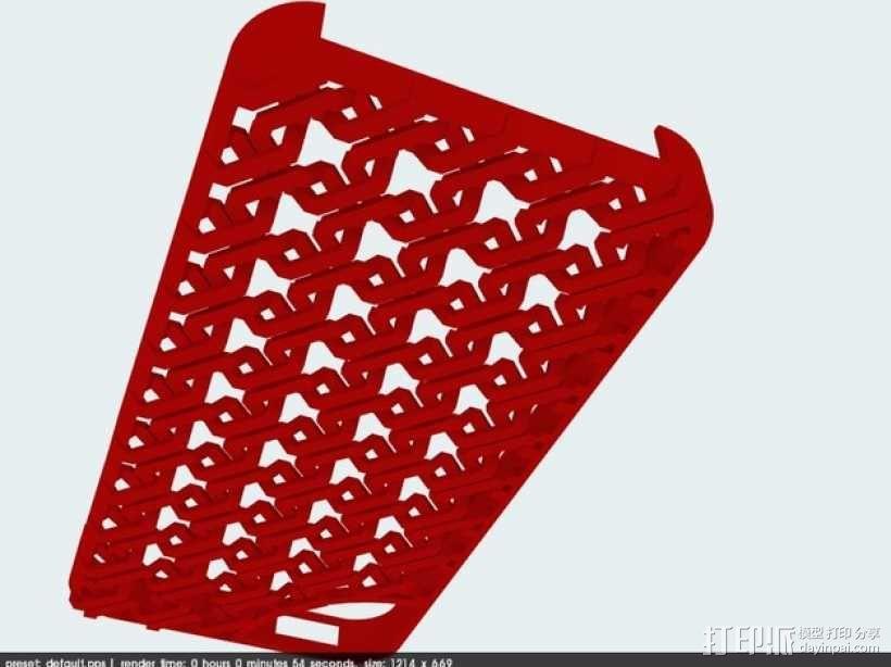 锁链iPhone5手机外壳 3D模型  图1