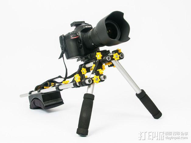 摄像机/照相机肩架 3D模型  图1