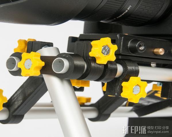 摄像机/照相机肩架 3D模型  图3