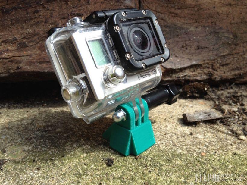 相机迷你三脚架 3D模型  图1