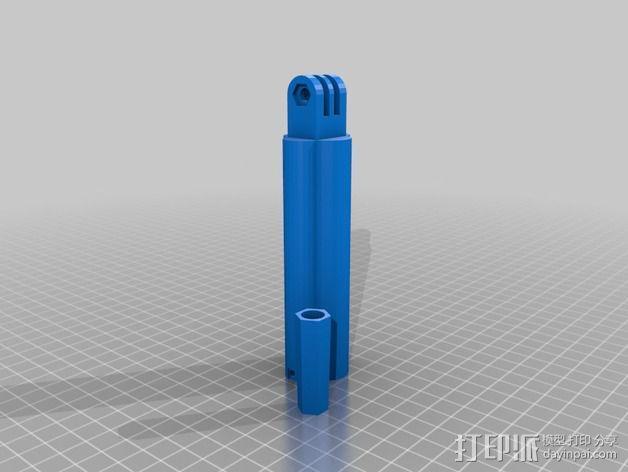 相机迷你三脚架 3D模型  图2
