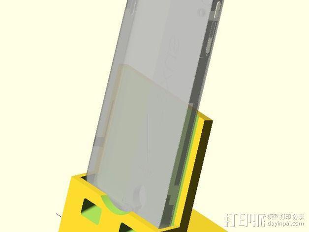 Nexus 5手机支撑架 3D模型  图1