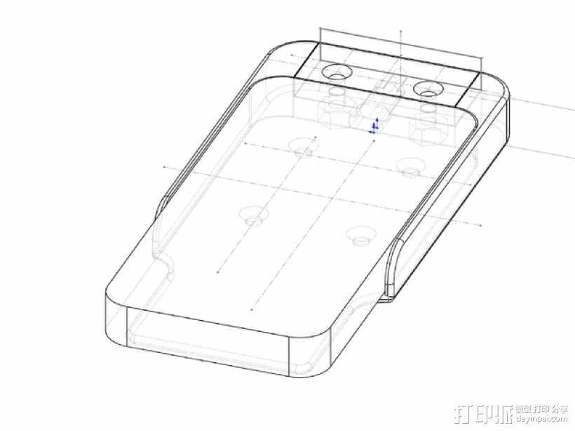 车载式iPhone 5 手机架 3D模型  图5