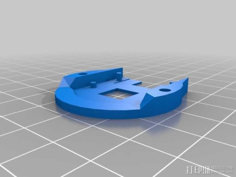 树莓派相机透镜支架 3D模型  图10