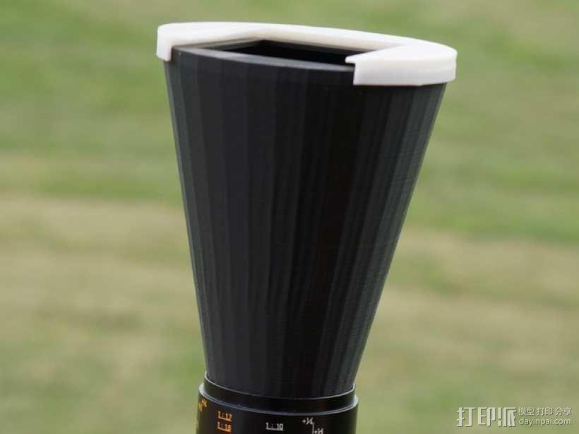 相机镜头盖 3D模型  图1