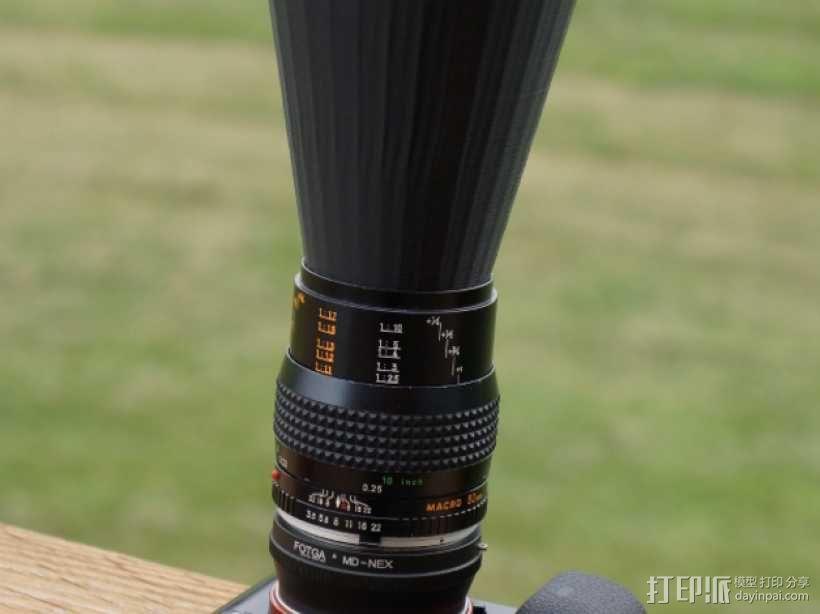 相机镜头盖 3D模型  图5