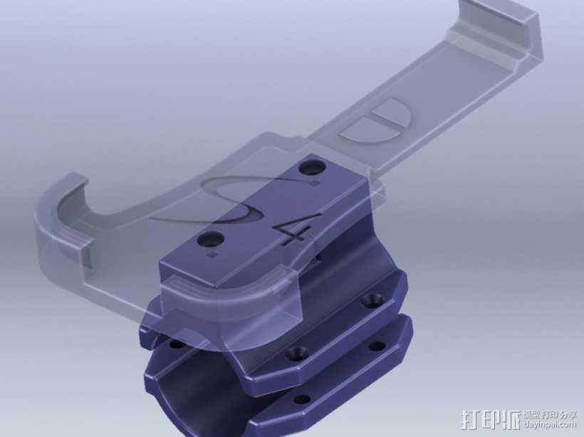三星S4手机自行车载手机架 3D模型  图1