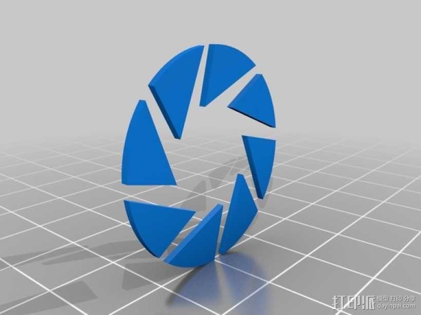 光圈科技标志 3D模型  图3