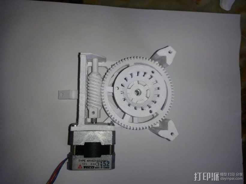 Star tracker步进电机蜗杆 3D模型  图1