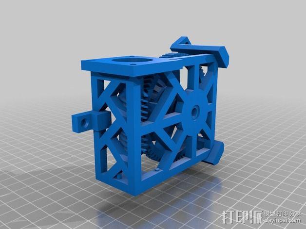 Star tracker步进电机蜗杆 3D模型  图4