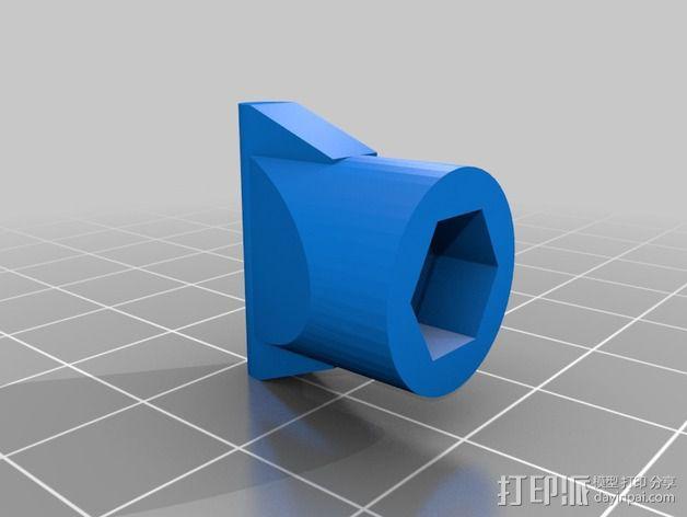 Star tracker步进电机蜗杆 3D模型  图3