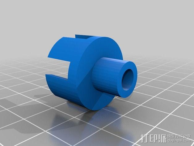 Star tracker步进电机蜗杆 3D模型  图7