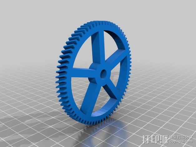 Star tracker步进电机蜗杆 3D模型  图9