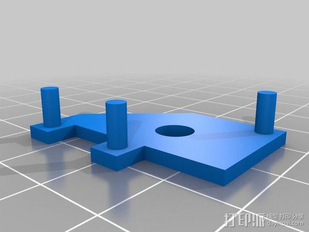 Star tracker步进电机蜗杆 3D模型  图11