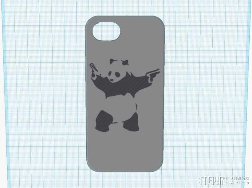 功夫熊猫iPhone5手机壳 3D模型  图1