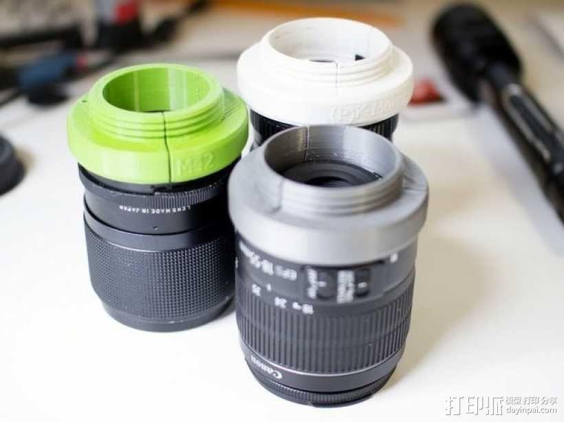 通用型的镜头适配器 3D模型  图1