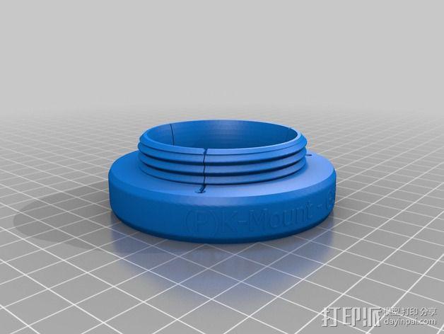 通用型的镜头适配器 3D模型  图3