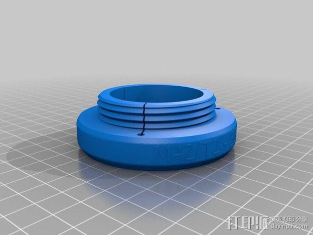 通用型的镜头适配器 3D模型  图2